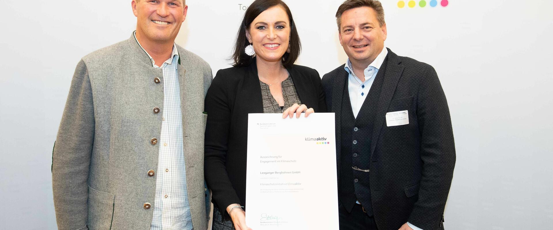 Federal Minister Elisabeth Köstinger Recognises The Leogang