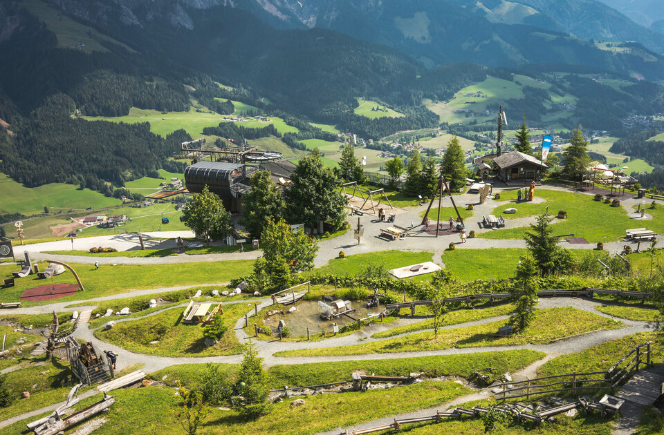 Senses Park from above at Asitz in Leogang | © Michael Geißler