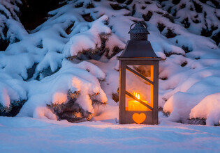 winter lantern in the snow | © Gina Sanders